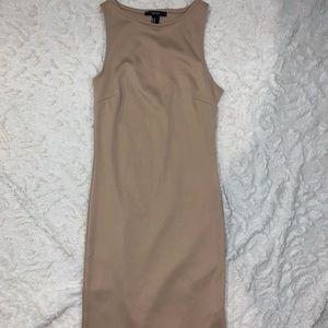 Forever 21 tan pencil dress